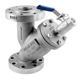 Y-Strainer with Blow-Off Drain Valve